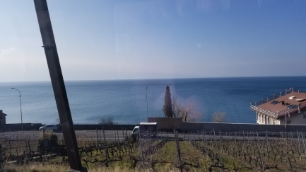 Train from Geneva to Montreux