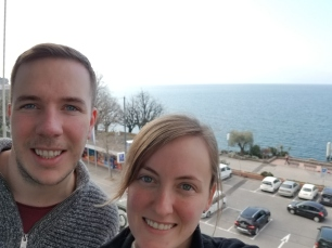 Our hotel balcony